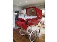 Silver cross dolls pram and accessories