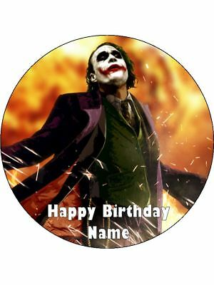 Joker Birthday Cake (The Joker 19cm Edible Icing Image Birthday Party Cake Topper Decoration)