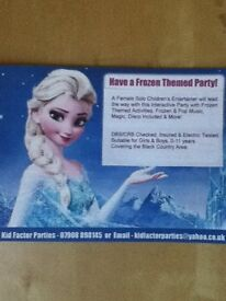 Frozen Elsa/Children's Entertainer with own act & disco included! Available for Birthday Parties!