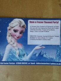 Frozen Elsa/Anna/Belle/Moana/Party/Children's Entertainer, act & disco! Available kids Parties!