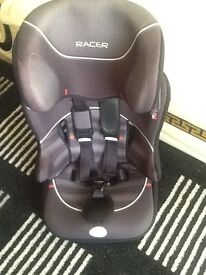 "CAR SEAT . Child car seat ""Racer"" brand. In good clean used condition. £7.50 ."