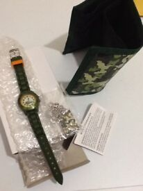 TIKKERS Three piece watch set, Wallet,Dog tag & Watch BRAND NEW boxed GUARANTEE