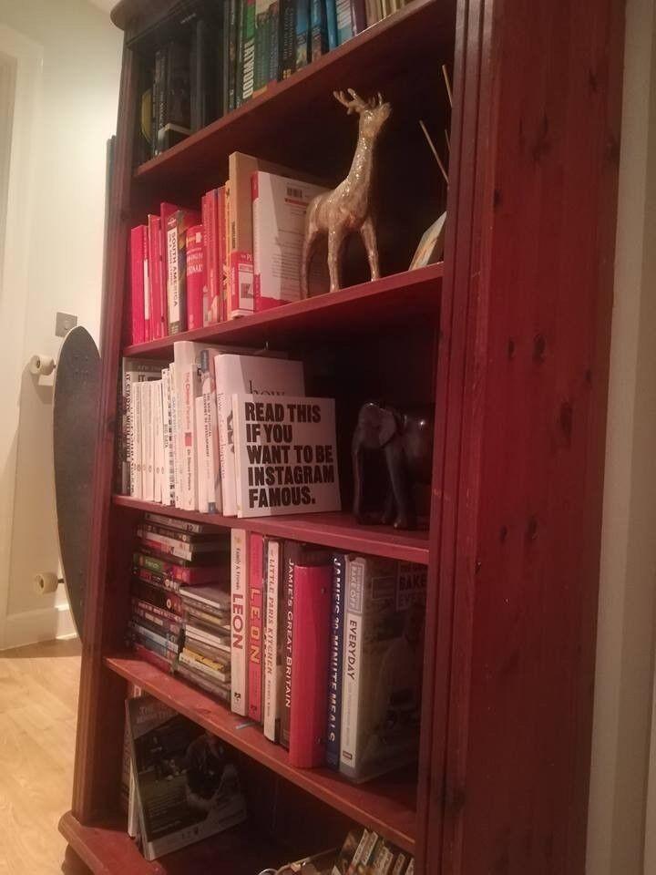 Wooden Bookcase - 5 shelves