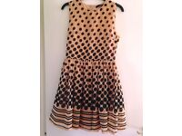 Peach with black dots Dress