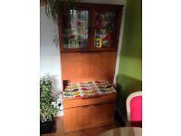 Retro teak cabinet with Orla Kiely