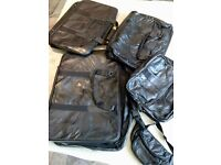 Set of 5 travel bags real leather brand new