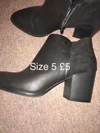 Size 5 Black boots
