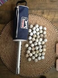 Golf ball picker & practice balls
