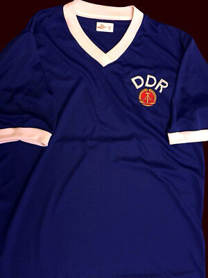 EAST GERMANY DDR SOCCER WORLD CUP 1974 Vtg Jersey Argentina - REPLICA ALL SIZES image