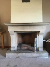Large Stone Fire Place
