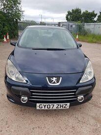 Peugeot 307 1.6Hdi, 2007 MOT till August for 1150 price negotiable