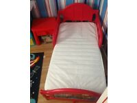 Lightning McQueen Toddler Bed with mattress red