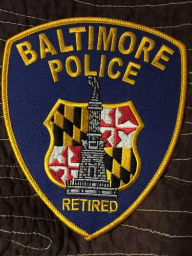 Baltimore City Police RETIRED Patch