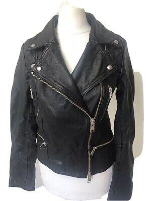 **CURRENT SEASON **Bnwt Allsaints Catch/Cargo Leather Biker Jacket.uk 8.£298