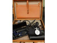 Vintage Medical Equipement in Leather Case