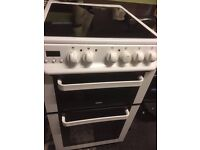 zanussi free standing cooker 50cm wide 3 months cover