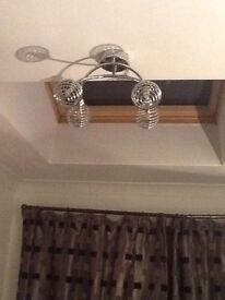 Ceiling lights chrome
