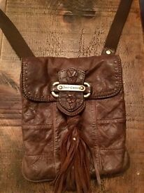 Real Leather Juicy Couture over the shoulder bag