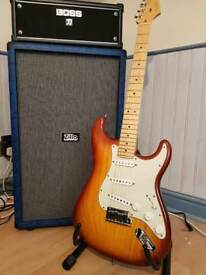 Fender USA deluxe Stratocaster with upgraded bare knuckle pickups
