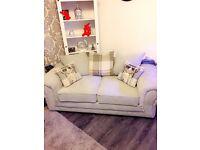 Beautiful pale grey sofa set