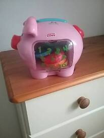 Fisher price play piggy bank