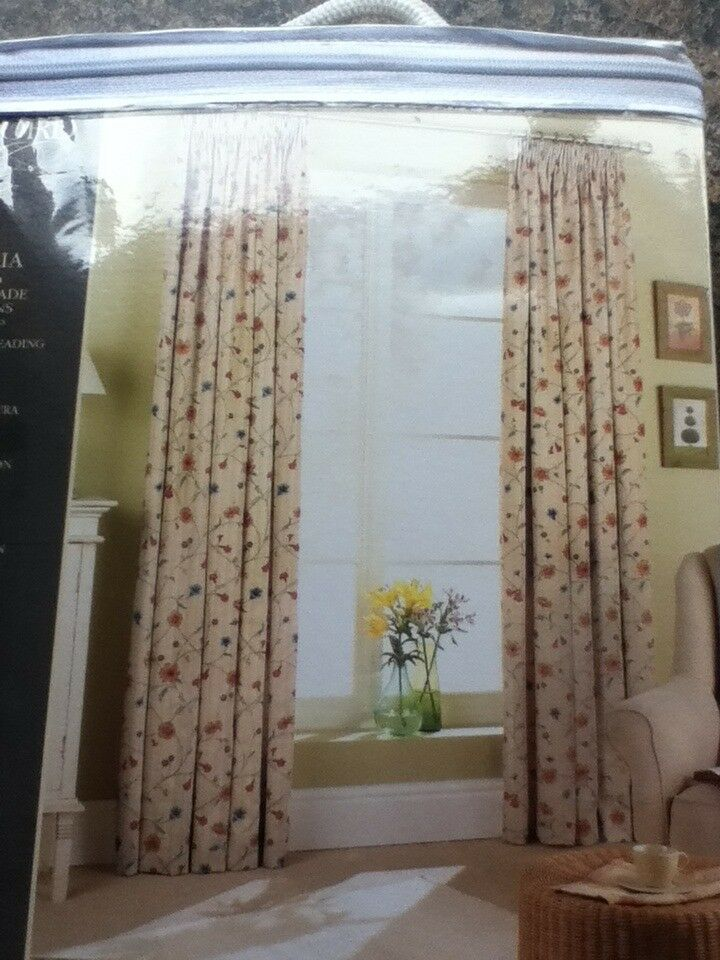 3 sets of matching Curtains – 46W x 72L Brand New