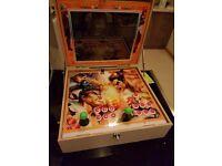 "Rare Portable Street Fighter Boxed Arcade 19"" Pandora's Box 4 Jamma 645 Games"