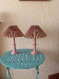 Pair of Candlestick table lamps.