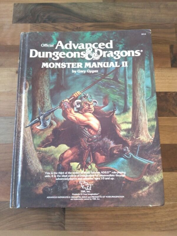 Advanced Dungeons and Dragons Monster Manual II 1983