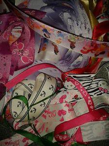 Bag of Ribbon Scraps Ends Art Scrapbooking Card Making Craft Disney Satin