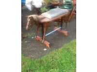 UNUSUAL HORSE SHAPED CHILDS BENCH OR SEAT NEEDS T L C