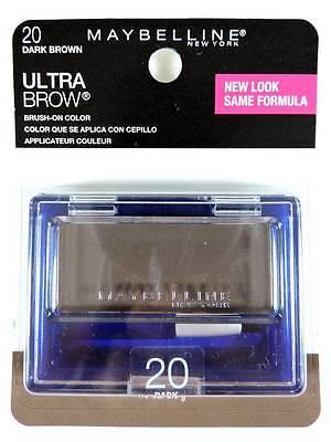 Maybelline Ultra-Brow Powder 20 Dark Brown Eyebrow Color Makeup 404 New Look