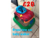 BRAND NEW HAUCK SIT IN CAR BABY WALKER WITH PLAY TRAY MISSING SUITABLE FROM 6 MONTHS ONLY £20