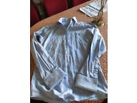 MENS PALE BLUE SHIRT USED SIZE 14.5
