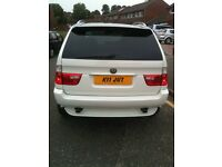 BMW X5 3.0I SPORT 5DR AUTO PETROL/LPG WHITE, DVD PLAYER,NEW HEADLIGHTS + REAR LIGHTS , NEW BATTERY