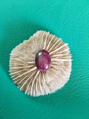 Stunning purple Star Ruby cabochon, loose stone, Artist hand cut