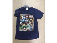 t shirt with lego motif size medium