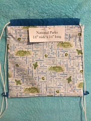 ** NATIONAL PARKS DRAWSTRING BACKPACK  - Fully Lined -  Junior Rangers - Junior Drawstring Backpack