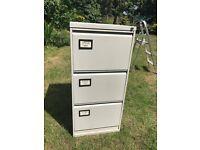 3 Draw filing cabinet. Grey