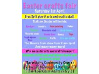Easter Crafts Free soft play, ride-ons & arts and crafts stall!