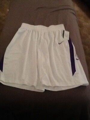 Nike lsu lady tigers basketball shorts, womens medium nwt, white purple