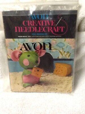 Vintage Avon Creative Needlecraft Doll Making Kit House Mouse NEW 1973 Green