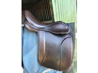 "Fylde Marjorie 17"" wide Havana show saddle"