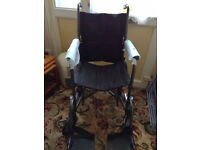 wheel chair mint con never used ( not self propelled)