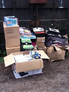 JOB LOT OF MIXED ITEMS TOYS HOUSEHOLD CLOTHES WHOLESALE CAR BOOT MARKET