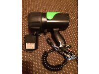 UK 8 rechargeable halogen Torch with charger.