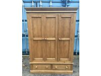 Solid pine wardrobe possible delivery please contact me for more info