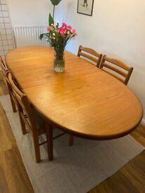 Vintage Mid Century Danish Extendable Dining Table
