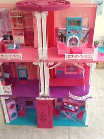 Barbie 3Storey Dolls House with Extras