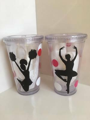 Personalized water cups, cheer football dance, custom drink glasses plastic - Personalized Plastic Footballs
